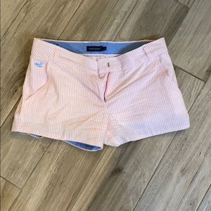 Southern Marsh pink seersucker shorts